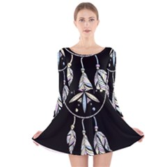 Dreamcatcher  Long Sleeve Velvet Skater Dress