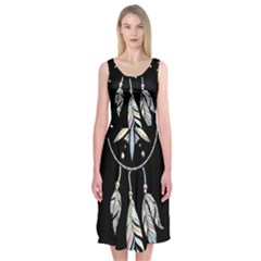 Dreamcatcher  Midi Sleeveless Dress