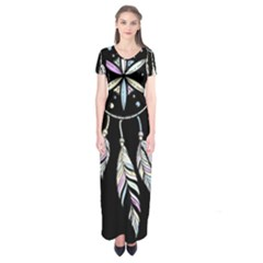 Dreamcatcher  Short Sleeve Maxi Dress