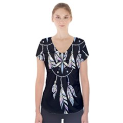 Dreamcatcher  Short Sleeve Front Detail Top