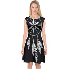 Dreamcatcher  Capsleeve Midi Dress