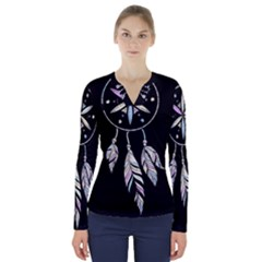 Dreamcatcher  V Neck Long Sleeve Top