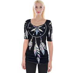 Dreamcatcher  Wide Neckline Tee