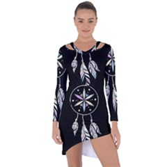 Dreamcatcher  Asymmetric Cut Out Shift Dress