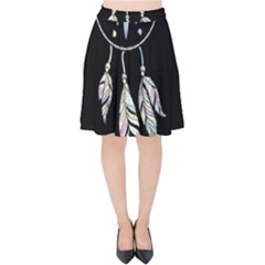 Dreamcatcher  Velvet High Waist Skirt