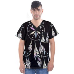 Dreamcatcher  Men s V Neck Scrub Top
