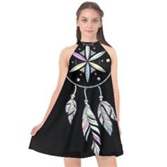 Dreamcatcher  Halter Neckline Chiffon Dress
