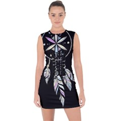 Dreamcatcher  Lace Up Front Bodycon Dress