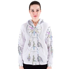 Dreamcatcher  Women s Zipper Hoodie