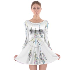 Dreamcatcher  Long Sleeve Skater Dress