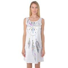 Dreamcatcher  Sleeveless Satin Nightdress