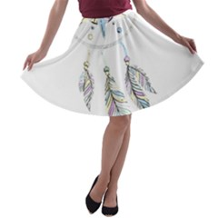 Dreamcatcher  A Line Skater Skirt