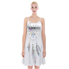 Dreamcatcher  Spaghetti Strap Velvet Dress