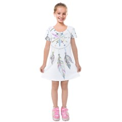 Dreamcatcher  Kids  Short Sleeve Velvet Dress