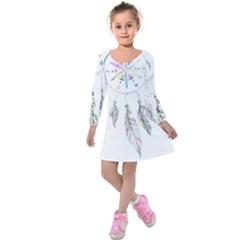Dreamcatcher  Kids  Long Sleeve Velvet Dress
