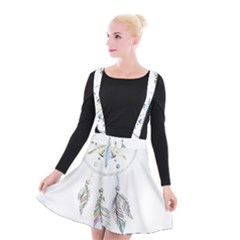 Dreamcatcher  Suspender Skater Skirt