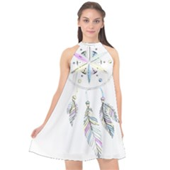 Dreamcatcher  Halter Neckline Chiffon Dress