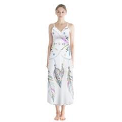 Dreamcatcher  Button Up Chiffon Maxi Dress