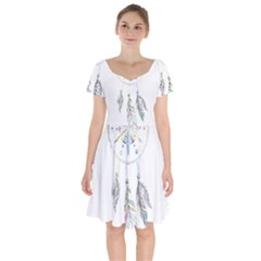 Dreamcatcher  Short Sleeve Bardot Dress