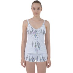 Dreamcatcher  Tie Front Two Piece Tankini