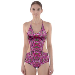 Fantasy Magnolia Tree In A Fantasy Landscape Cut Out One Piece Swimsuit