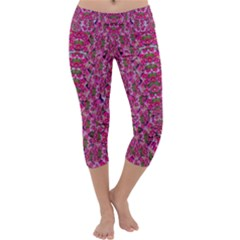 Fantasy Magnolia Tree In A Fantasy Landscape Capri Yoga Leggings