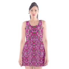 Fantasy Magnolia Tree In A Fantasy Landscape Scoop Neck Skater Dress