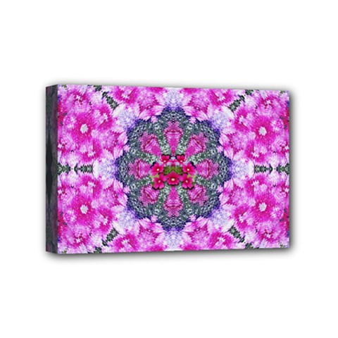 Fantasy Cherry Flower Mandala Pop Art Mini Canvas 6  X 4