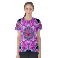 Fantasy Cherry Flower Mandala Pop Art Women s Cotton Tee
