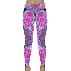 Fantasy Cherry Flower Mandala Pop Art Classic Yoga Leggings