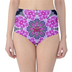 Fantasy Cherry Flower Mandala Pop Art High Waist Bikini Bottoms