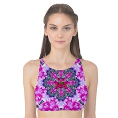Fantasy Cherry Flower Mandala Pop Art Tank Bikini Top
