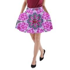 Fantasy Cherry Flower Mandala Pop Art A Line Pocket Skirt