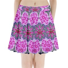 Fantasy Cherry Flower Mandala Pop Art Pleated Mini Skirt