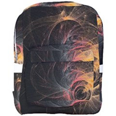 Circles Lines Spots Background Colorful Wreath  Full Print Backpack