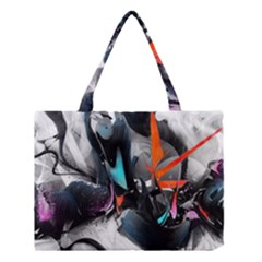 Lines Spray Brush Paint Color  Medium Tote Bag
