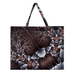 Lines Background Light Dark  Zipper Large Tote Bag