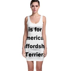 A Is For American Staffordshire Terrier Bodycon Dress