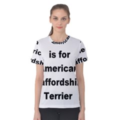 A Is For American Staffordshire Terrier Women s Cotton Tee