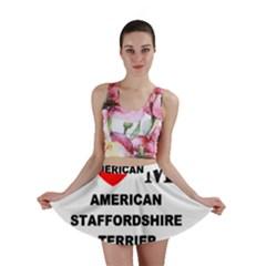 American Staffordsdhire Terrier Love Mini Skirt