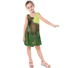3 Full Staffordshire Bull Terrier Kids  Sleeveless Dress