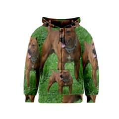 4 Full Staffordshire Bull Terrier Kids  Zipper Hoodie