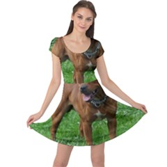 4 Full Staffordshire Bull Terrier Cap Sleeve Dress