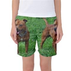 4 Full Staffordshire Bull Terrier Women s Basketball Shorts