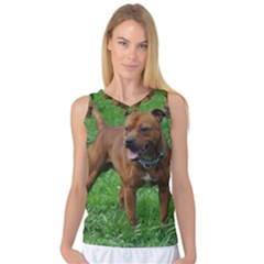 4 Full Staffordshire Bull Terrier Women s Basketball Tank Top