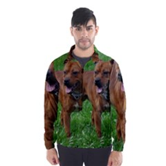 4 Full Staffordshire Bull Terrier Wind Breaker (men)