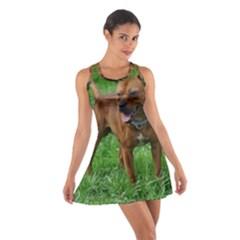 4 Full Staffordshire Bull Terrier Cotton Racerback Dress