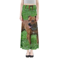 4 Full Staffordshire Bull Terrier Full Length Maxi Skirt