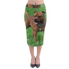 4 Full Staffordshire Bull Terrier Midi Pencil Skirt