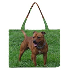 4 Full Staffordshire Bull Terrier Zipper Medium Tote Bag